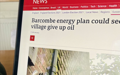 CommuniHeat project in Barcombe featured by BBC